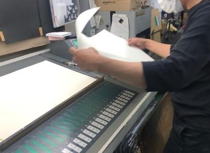 印刷会社の作業風景